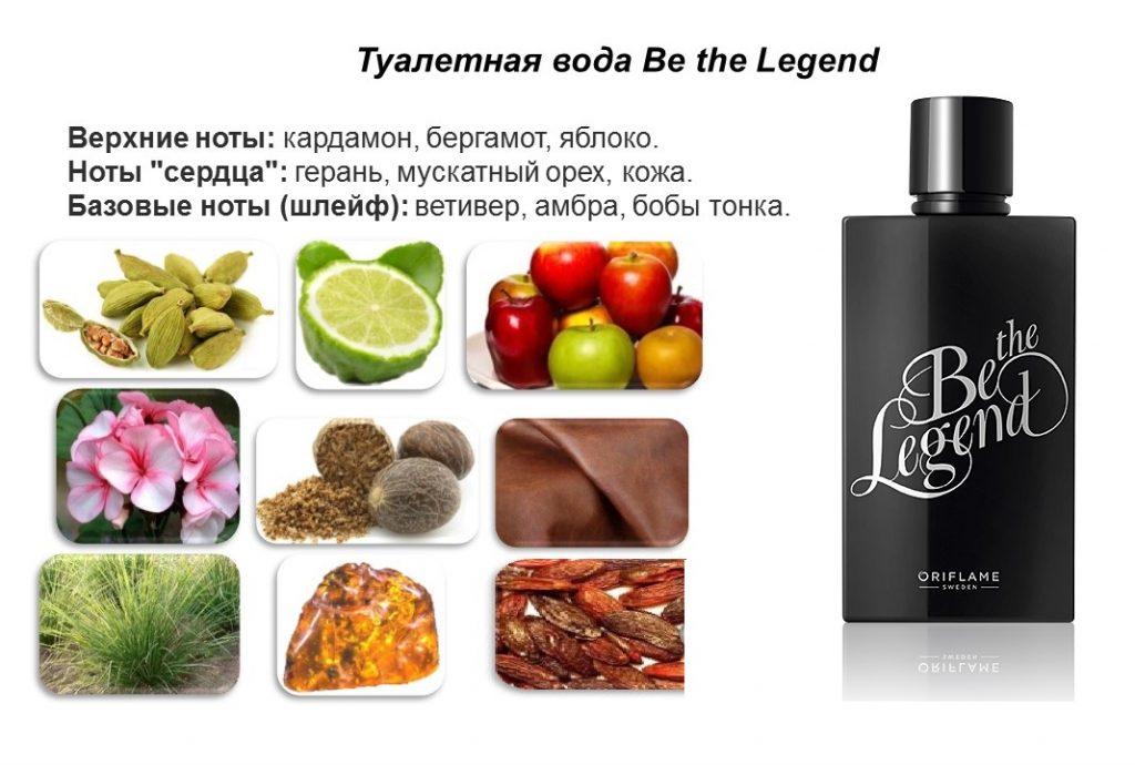 ноты Be the Legend туалетная вода