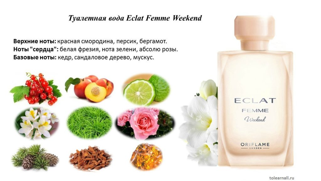 Eclat Femme Weekends ноты аромата
