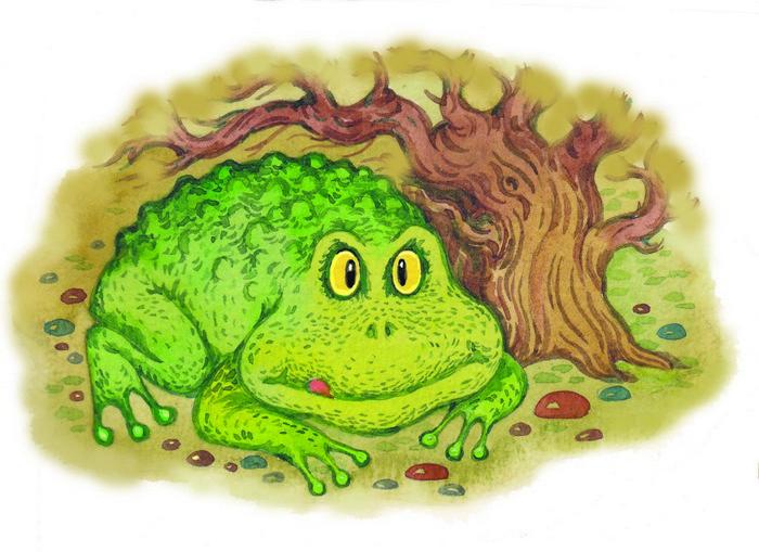 В озере повстречалась с жабой