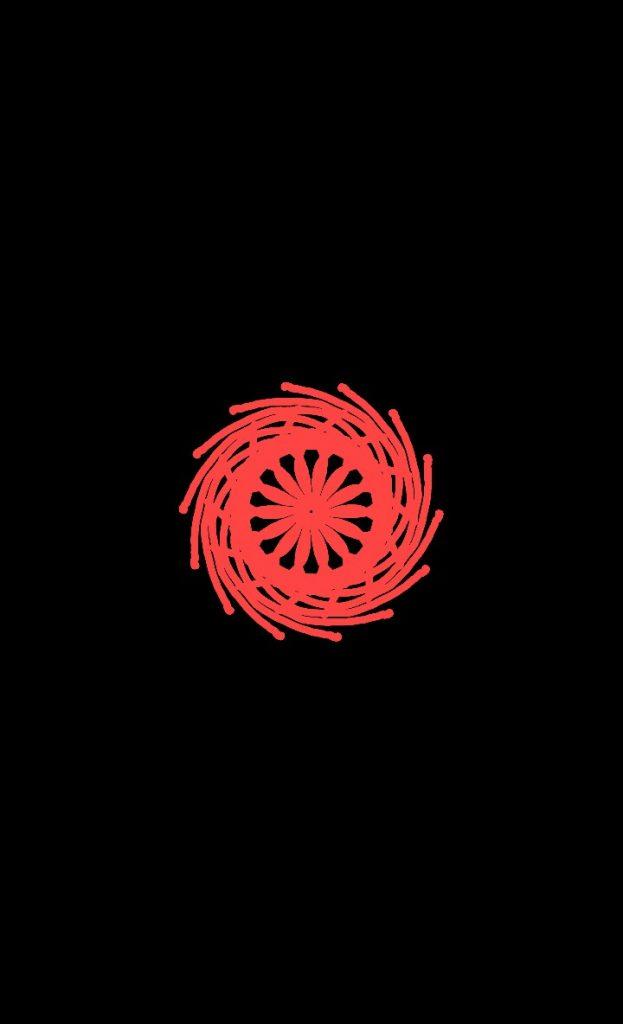 Мандала красного цвета