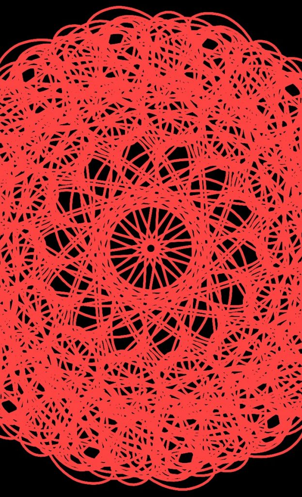 Мандала красного цвета круг