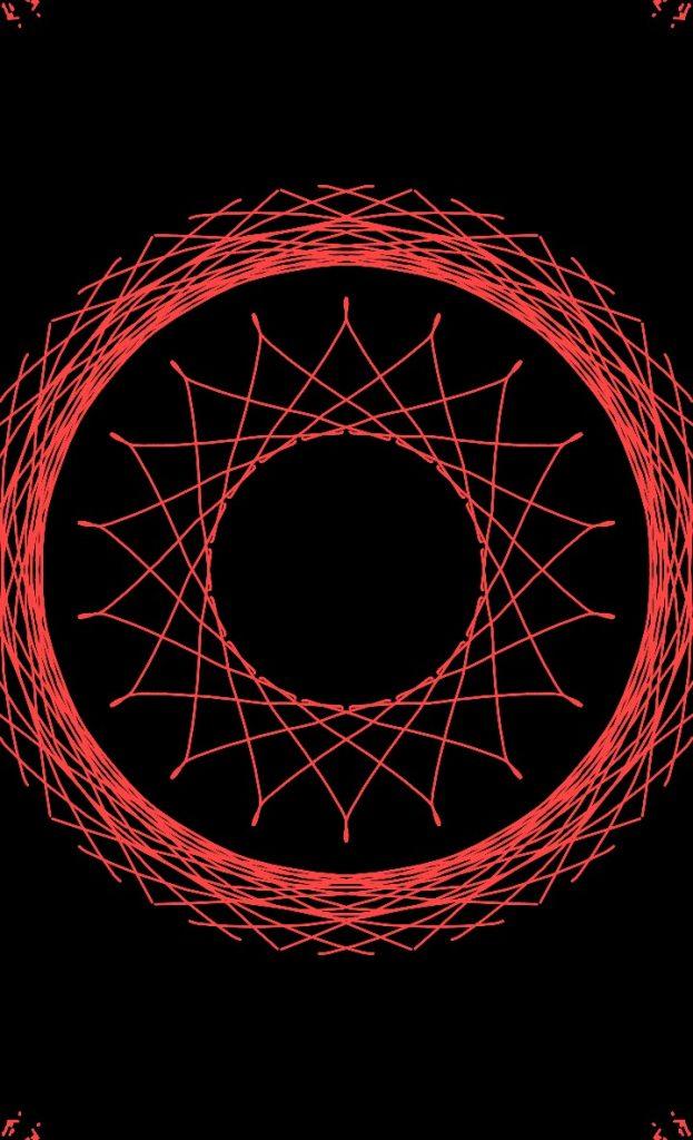 Красная мандала круг