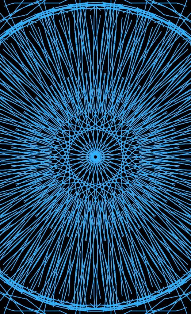 Мандала синего цвета авторская
