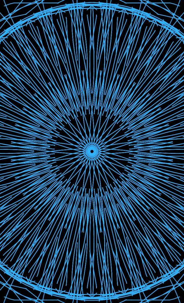 На изображении мандала круг