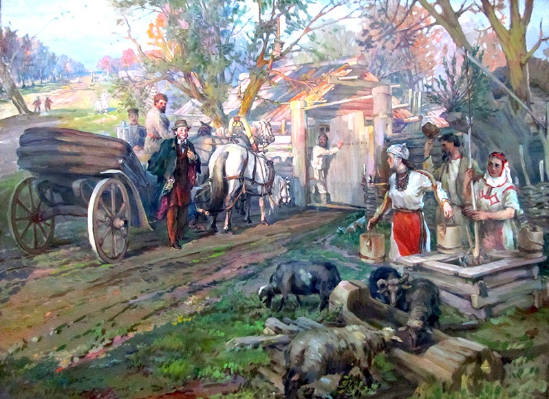 Александр Пушкин Деревня иллюстрация к стихотворению
