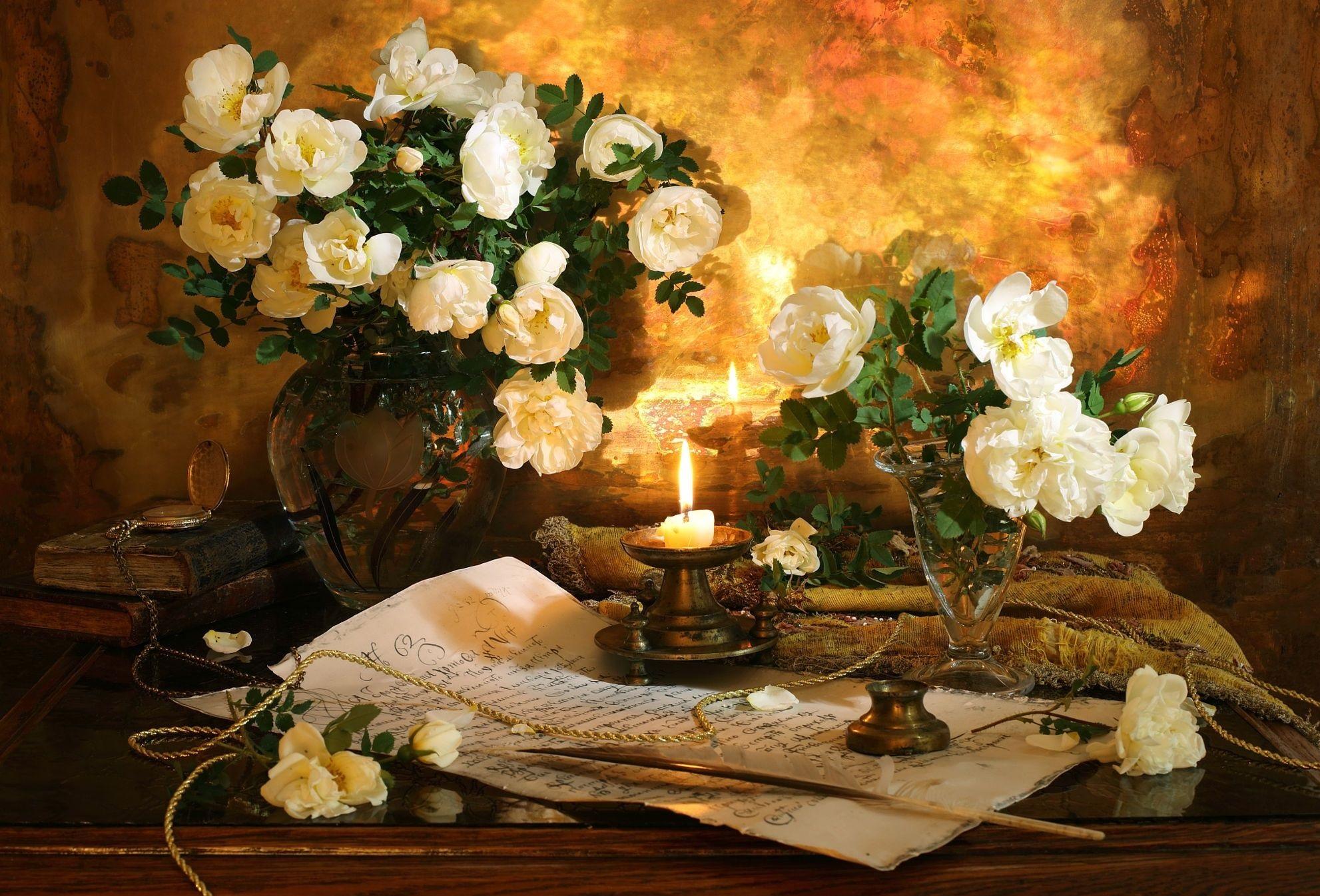 свечка розы письмо