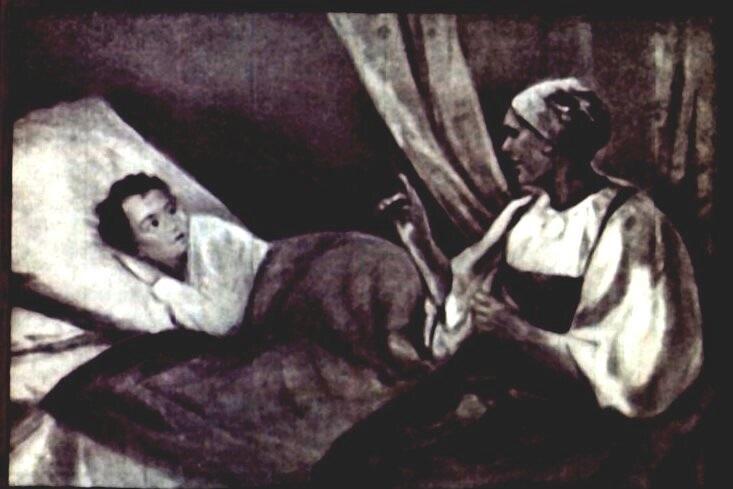 Пушкин стихотворение Я сам не рад болтливости своей иллюстрация к стиху