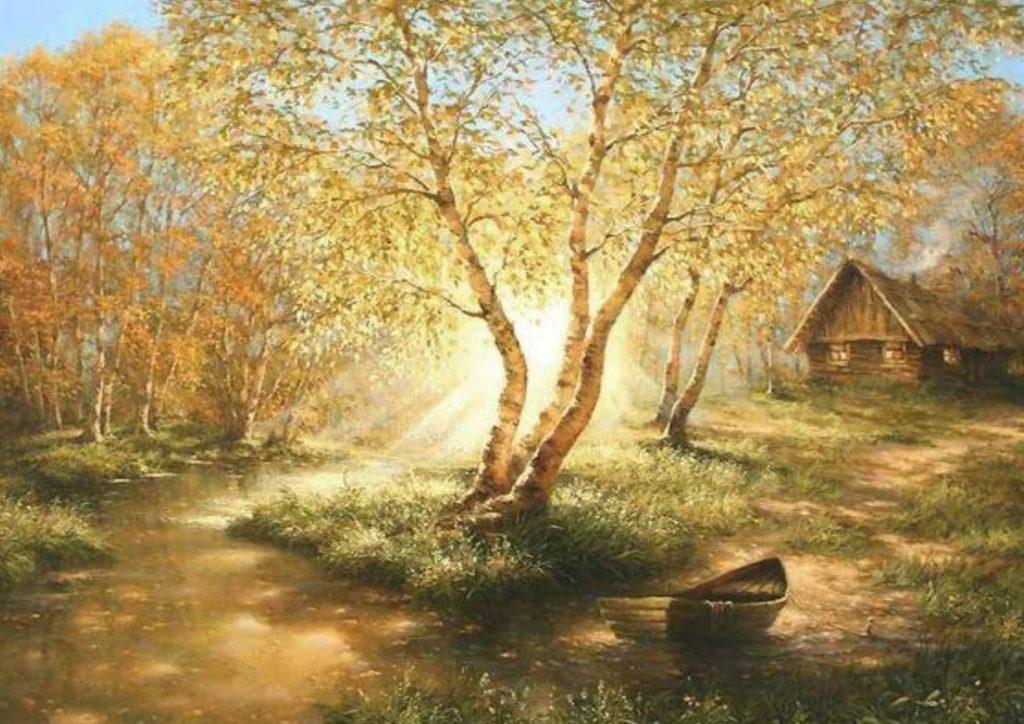 пейзажи стихи есенина стоит сразу