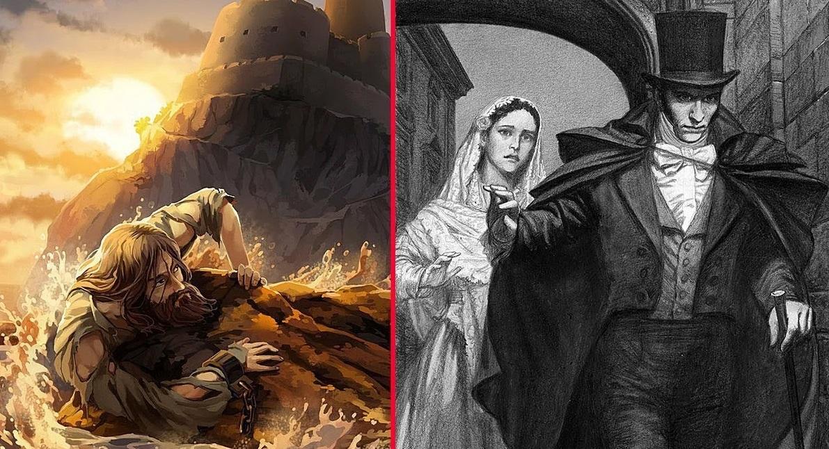 граф монте кристо иллюстрация до и после заточения