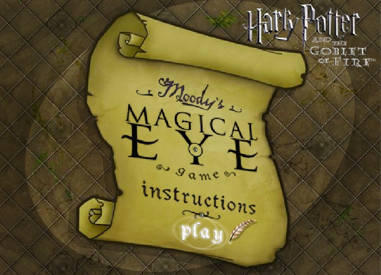 Harry Potter and the goblet of fire заставка игры