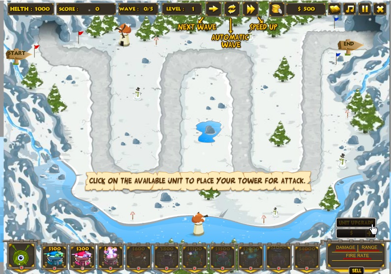 игровой процесс игры башни крепость