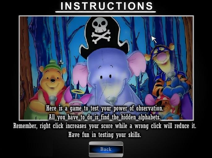 инструкция к игре найти буквы алфавита