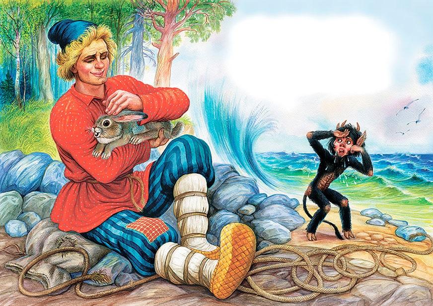 Сказка о попе и о работнике его Балде иллюстрация к сказке