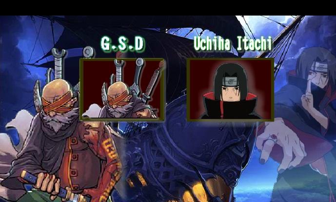 выбор персонажа в игре наруто битва ниндзя