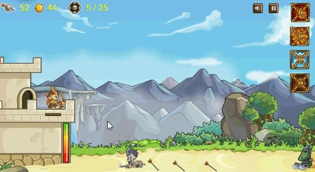 игра охотник на монстров лучник защищает замок скриншот