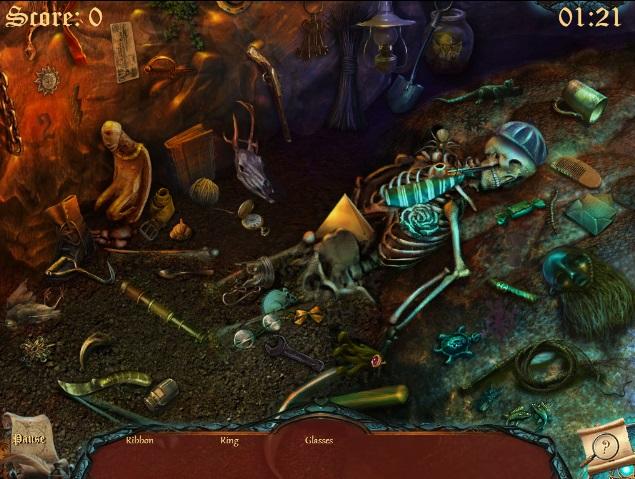 скриншот игры поиск скрытых предметов игра морское дно