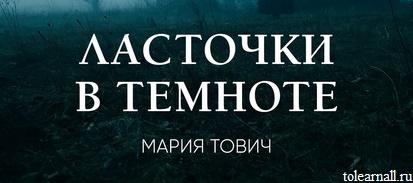 Обложка книги Ласточки в темноте Мария Тович