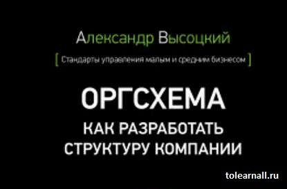 Обложка книги Оргсхема Как разработать структуру компании Александр Высоцкий