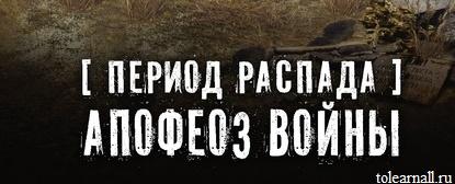 Обложка книги Период распада Апофеоз войны Тим Волков