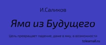 Обложка книги Игорь Саликов Яма из будущего