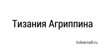 Обложка книги Анна Фирсова Тизания Агриппина