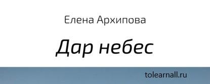 Обложка книги Елена Архипова Дар небес