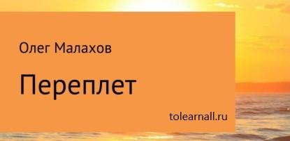 Обложка книги Олег Сергеевич Малахов Переплет